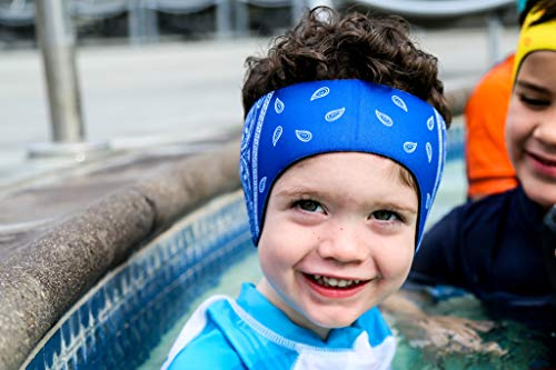 The Good Ears Swimming Headband for Babies - Toddlers - Kids - Adults. Got Ear Tubes? Want to Avoid Them Altogether? Try Our Swimming Headband! (Blue, Medium)