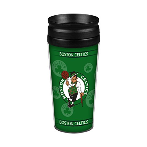 NBA Boston Celtics 14 Ounce Travel TumblerFull Wrap, Team Color, 14 Ounce