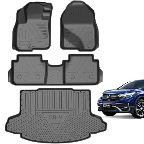 [Upgrade Version] Floor Mats Fit for 2017-2021 Honda CR-V, Includes 1st Front Floor Mats 2nd Rear...