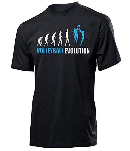 Volleyball Evolution Geburtstag Geschenk Herren Männer t Shirt Tshirt t-Shirt Fanshirt Fan Fanartikel zubehör Bekleidung Oberteil Hemd Kleidung Outfit Spruch Fun witzig Artikel