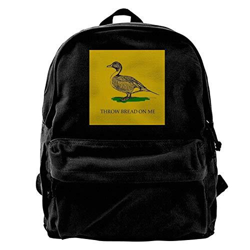 PICOHUG Daypack Throw Bread on me Canvas Backpack Hiking Bag Leisure Bag