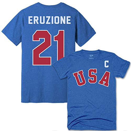 Streaker Sports Mike Eruzione 1980 Miracle Jersey Tee Away, Royal Blue, X-Large