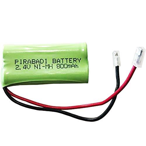 Pack de 2 pilas recargables ACCU 2.4V AAA 800mAh NI-MH NIMH | 48 x 20 x 10 mm | Teléfono inalámbrico | Coche RC / Avión | Robot Toy | MP3 MP4 etc.