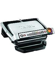 TEFAL OptiGrill+ GC716D Grill elektryczny, 2000W, Dodatkowe płyty do gofrów, 6 automatycznych programów, Wskaźnik poziomu wysmażenia