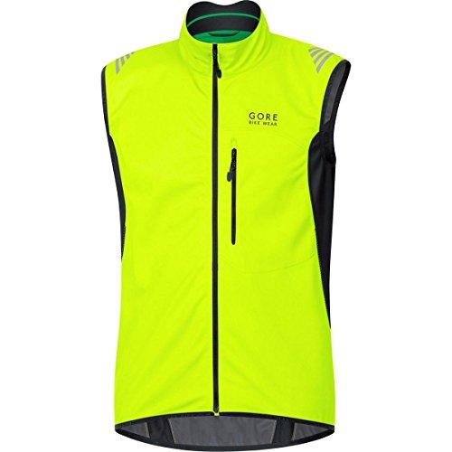 GORE BIKE WEAR Herren Warme Soft Shell Fahrrad-Weste, GORE WINDSTOPPER,  WS SO Vest, Größe M, Neon Gelb/Schwarz, VWSELM