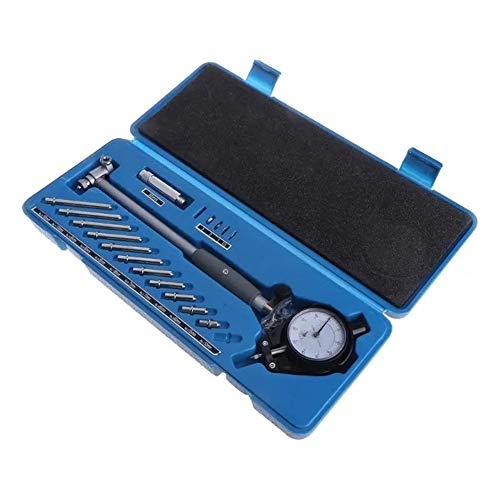 BaoYPP Micrómetro Digital 0.01mm 50-160MM marcación Bore Gauge medición de los Indicadores de precisión del Motor Cilindro La medición precisa (Color : Silver, Size : One Size)