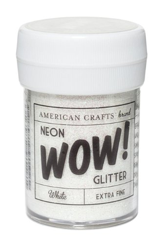 American Crafts 1 oz paillettes Ultra Fines, néon blanc