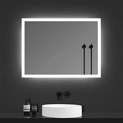 Espejo de Baño con Lámpara LED Espejo Moderno de Baño con Interruptor...