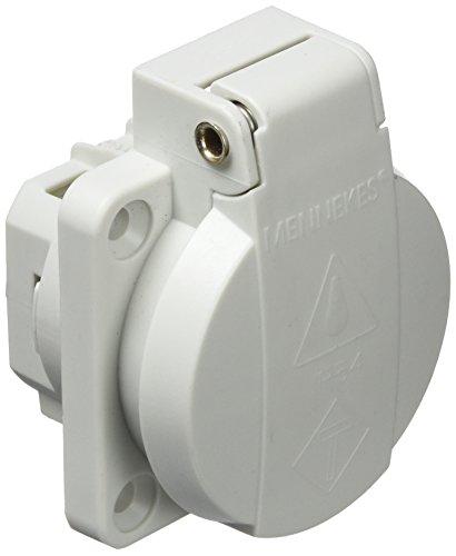 Mennekes 11010 SCHUKO-Anbausteckdose mit Klappdeckel 16A 2p+E 230V IP54 grau