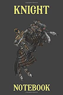 Knight Notebook  - Armored Horse - Black - College Ruled