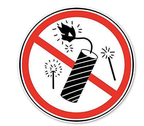 WZJH 12. 8cmx12.8cm Señal de Advertencia Prohibir los Fireworks Pegatinas de automóviles Accesorios