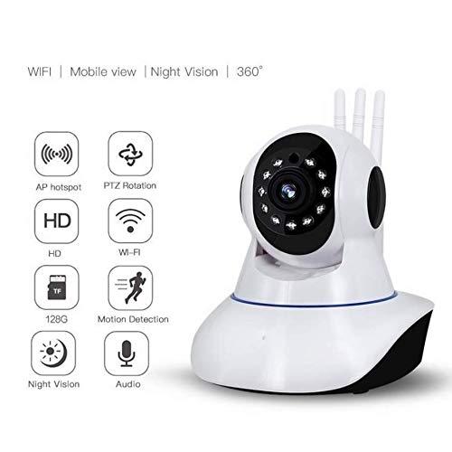 MAAR Hemisphere Camera, Draadloze IP-camera, HD 1080P Draadloze Beveiligingscamera met Cloud Opslag, Pan/Tilt/Zoom, Twee-weg Audio, Bewegingsdetectie, Nachtzicht voor Baby/Oudere/Huisdier Monitor