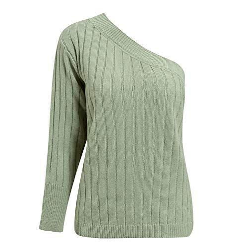 Suéteres punto verde menta otoño invierno suéteres