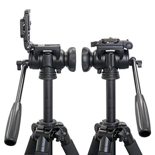 Velbonフリュード雲台FHD-66A中型底面径51mmビデオ撮影用スライド式クイックシュー対応マグネシウム製469946ブラック