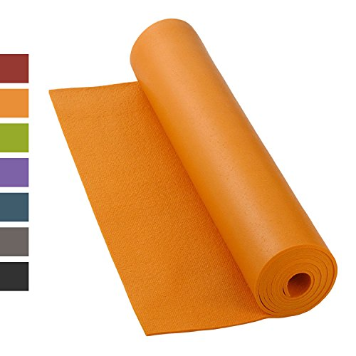 Yogamatte RISHIKESH PREMIUM 80 XL, rutschfest, groß & extra-stark, 4,5mm Studiomatte, Ökotex 100, maschinenwaschbar, lang: 200 x 80 cm (orange)