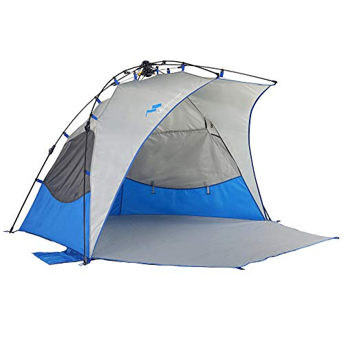 Mobihome Beach Tent Sun Shelter Pop Up, Sand & Surf Beach...