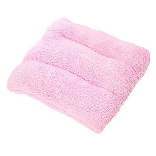Amortiguador de Asiento de Gamuza, Espesado Memoria Algodón Pad Chair, Cojines del Asiento Cuadrado con Corbata, 40 × 40 cm, Adecuado for la Oficina Restaurante Jardín de Coches D6/10 (Color : Pink)