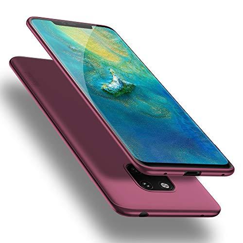 X-level Cover Huawei Mate 20 PRO, [Guardian Series] Ultra Sottile e Morbido TPU Protettiva Custodia Silicone Rubber Protezione Cover per Huawei Mate 20 PRO, Vino Rosso