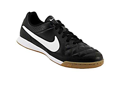 Nike Mädchen Jr Tiempo Genio Leather IC Fitnessschuhe, Schwarz Weiß schwarz Weiß Schwarz, 36 EU