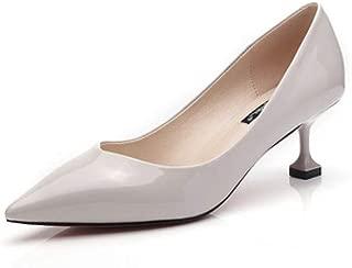 WHPSTZ Fashion High Heels Women's Fashion Casual Elegant Sexy Work Shoes High Heels High Heels 3.5CM 4 Colors High Heels (Color : Gray, Size : EU36/UK4/CN36)