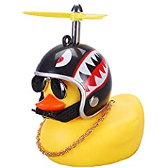 Multipurpose - The rubber duck can be used as a car decoration, but also as a relaxing and pressure-relief toy. Squeak and Fun - These rubber ducks will squeak when you squeeze them, which can be as a car decoration to add some fun during driving. Sa...