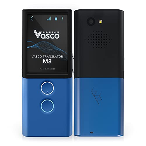 Vasco M3 Translator Device | Portable Two-Way Language Interpreter | Free and Unlimited Internet in Almost 200 Countries | Instant Photo Translation | Fast - Under 0.5 Sec | European Brand