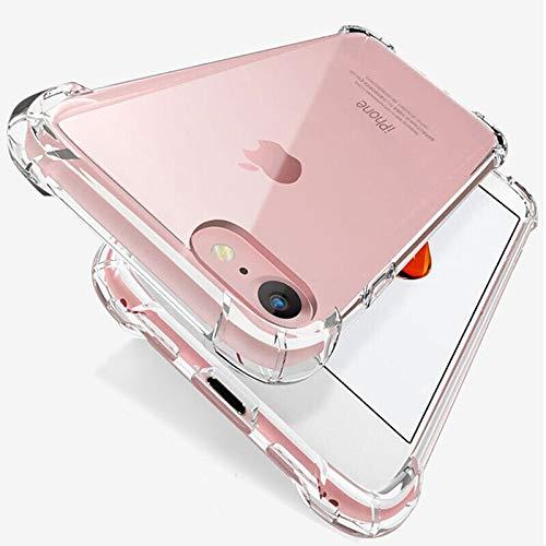 Funda de silicona de lujo a prueba de golpes compatible con iPhone 11 7 8 6 6S Plus X XR XS 11 12 Pro Max funda transparente protección trasera cubierta