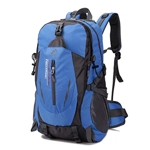 SHRAY 36-55L Mountaineering Outdoor Bag Leisure Sport Travel Backpack on Foot Camping Waterproof High Capacity Multifunction Backpack Blue