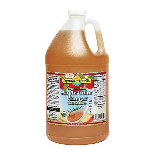 Dynamic Health Organic Raw Apple Cider Vinegar with Mother | Vegan, Gluten Free, Non-GMO, Unpasteurized | 128 FL OZ