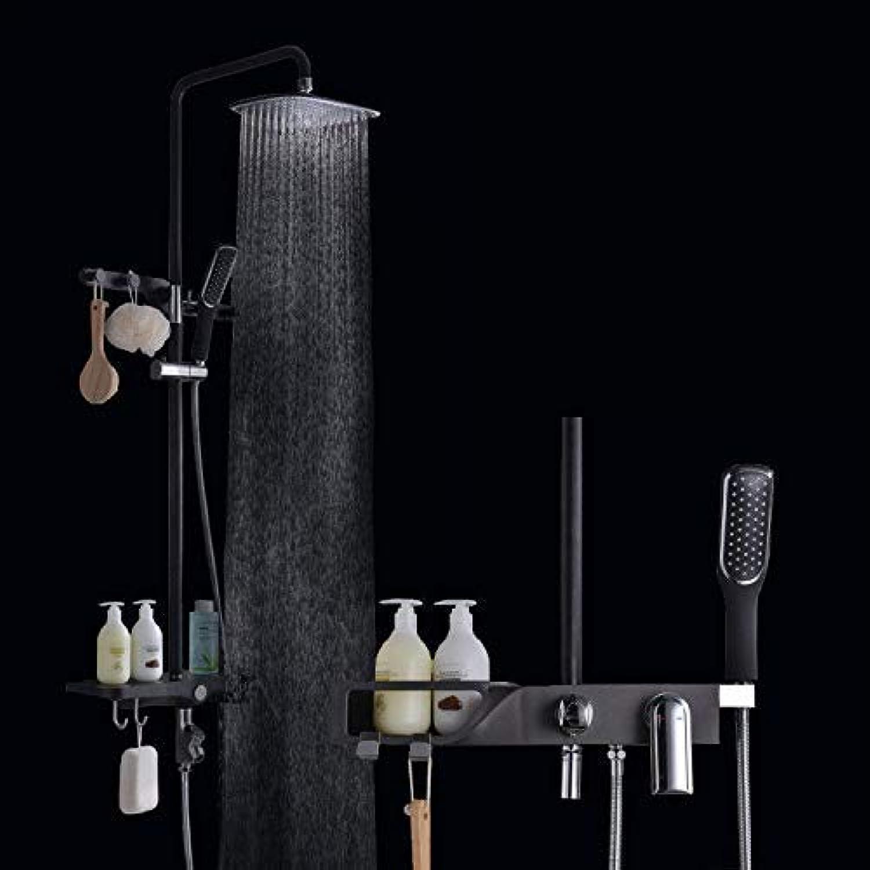 Dusche Dusche Dusche Thermostat Badewanne Heies und kaltes Wasser Hochglanz Schwarz Kunststoffschale Kupfergehuse Groes Duschset Badewanne Dusche Mischbatterie