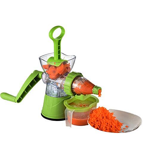 Fswallow Eismaschine Speiseeismaschine Haushaltsfrucht Multifunktions Entsafter, Handshake EIS Orangensaft Obstmaschine Weizensämlinge Entsafter