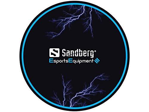 Sandberg Floor Mat, Silla de Juego Mat Negro