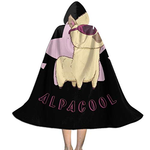 NUJSHF Alpacool Alpaca Unisex Kinder Kapuzenumhang Umhang Cape Halloween Party Dekoration Rolle Cosplay Kostüme Outwear