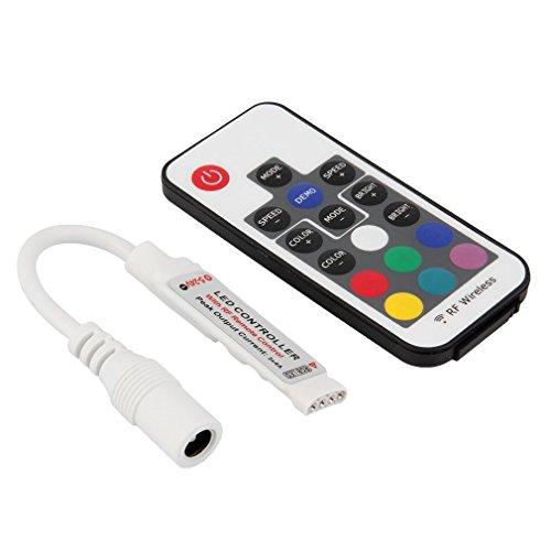 Binghotfire Controlador Remoto portátil Mini RF Regulador led inalámbrico para Tira de luz LED Multicolor