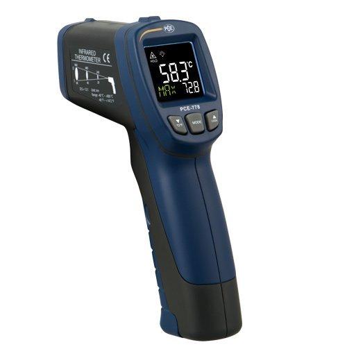 PCE Instruments Termómetro infrarrojo PCE-778 con óptica 12 : 1 y rango -40...