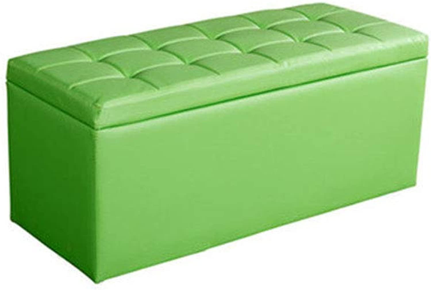 Sofa shoes Bench, Artificial Leather and Square Wooden Support Frame Multi-Function Storage Box for Commercial Clothing Store, shoes Store (color   Green, Size   40  40  40cm)