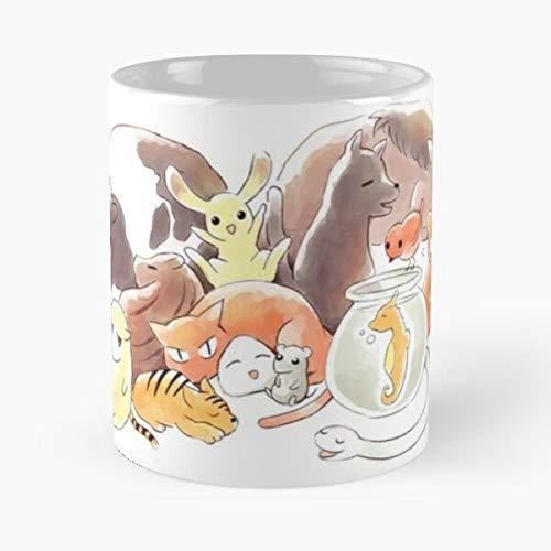 Shigure Basket Yuki Bird Momiji Kyo Hatori Fruits Tohru La mejor taza de café de cerámica blanca de 11 oz