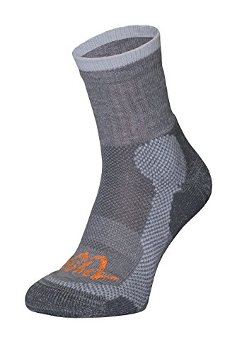 Homme ou Femme Chaussettes de randonnée en Thermocool et bavlna Active Cotton pour mittelhohe Randonnée Chaussures randonnées Conçu pour Les Tailles de S à L (36 à 44) Gris/Orange