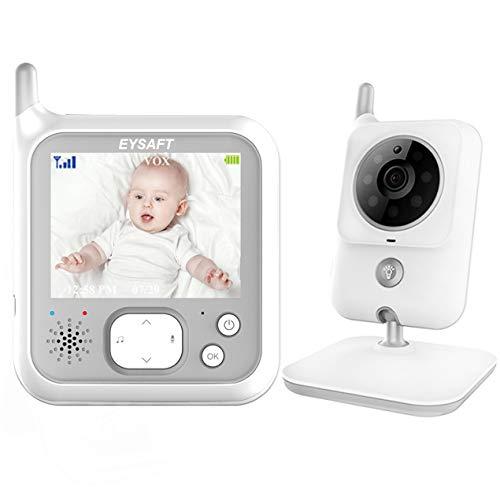 Babyphone mit Kamera, EYSAFT Smart Video Baby Monitor 3.2 Zoll TFT LCD Babyfon mit Talk Back und Temperaturüberwachung,Nachtsichtkamera,Schlaflieder,Nachtsicht, Intercom-Funktion VOX