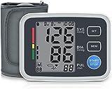 Tensiómetro digital de brazo con detección de arritmia, 2 x 90 memorias, mediciones para una medición precisa de la presión arterial
