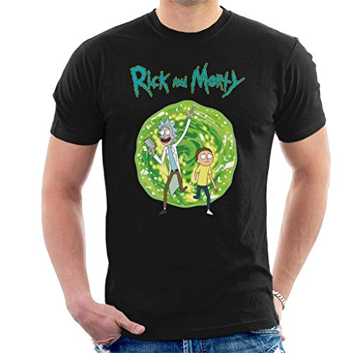 Rick and Morty Walking Through Portal Men's T-Shirt