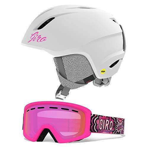 Giro Launch MIPS Kids Snow Helmet Goggle Combo Matte White/Daizee Flash SM (52-55.5CM)