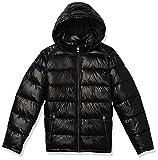 GUESS Men's Midweight Puffer Jacket, Black, L