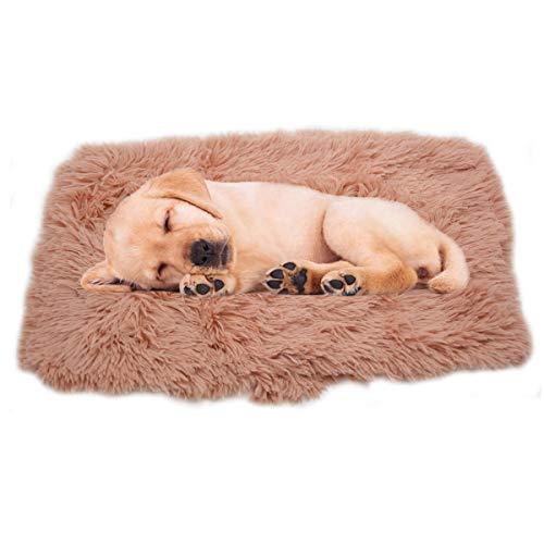 Rongyutech 1 Packung Welpen-Hundedecke, Kunstfell-Haustierdecke, weicher Flanell-Überwurf, Haustiermatte für Katzen, Kaninchen (klein (76,2 x 53,3 cm), rosa)
