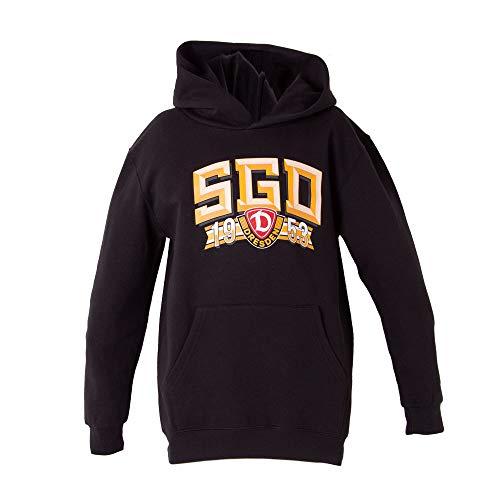 SG Dynamo Dresden Kinder-Kapuzensweater SGD 1953 schwarz, Größe:98-104/3-4