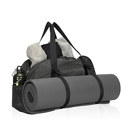 HynesEagle(ハインズイーグル)ヨガマットバッグヨガバッグヨガ専用バッグ大容量ヨガマットケース多機能スポーツバッグジムバッグ調節可能なストラップ耐久性おしゃれ(グレー)