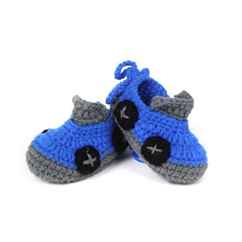 Handgestrickte Babyschuhe mit weicher Unterseite für Kleinkinder Babyschuhe für Damen und Herren Socken Länge 4,3 Zoll