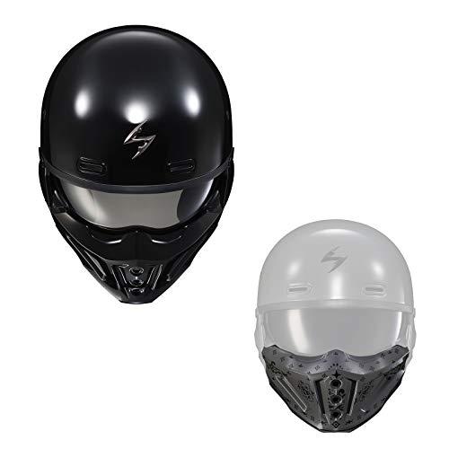 Scorpion EXO 2点セット Covert X 2021年 モデル グロスブラックヘルメット & バンダナフェイスマスク セメントグレー/XL [並行輸入品]