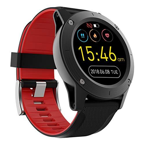 YGQNH R911 Relojes Inteligentes Monitor De Frecuencia Cardíaca IP67 Rastreador De Ejercicios A Prueba De Agua Reloj Inteligente Profesional para Exteriores Hombre Araña/Hombre De Hierro(Color:Rojo)