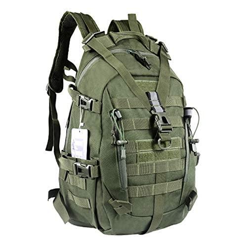 LHI Mochila táctica militar para hombres 35L 45L Ejército Pack BugOut Bolsa Molle Mochila con Reflector, Mochilas tácticas, 35L US, 35l-verde militar